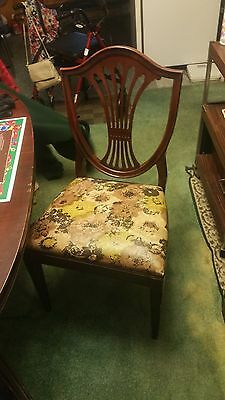 Vintage 1940's Mahogany Dbl Pedestal Duncan Phyfe Dining Room set with China