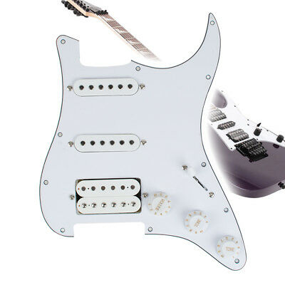 Guitar Loaded Prewired Pickguard for Squier Stratocaster Strat HSS 3 Ply Pearl