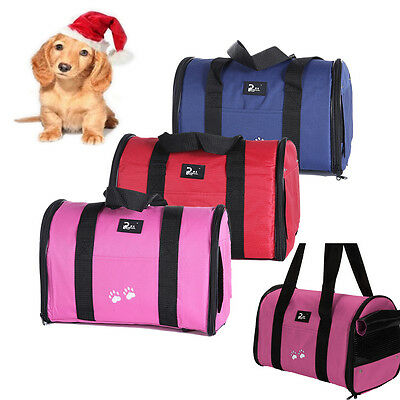 Dog Cat Puppy Fabric Portable Carrier Folding Crate Cage Pet Travel Foldable Bag