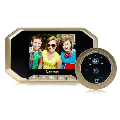 2.0MP HD 3.5inch Color Screen digital Peephole Viewer IR wide angle 160degrees