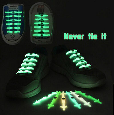Cool No Tie Shoelaces Easy for Kids Adults Elastic Silicone Set 12Pcs Shoe Lace