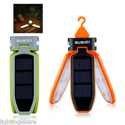 Collapsible LED Solar Rechargeable Lantern Camping Hiking Light Outdoor Lamp AU