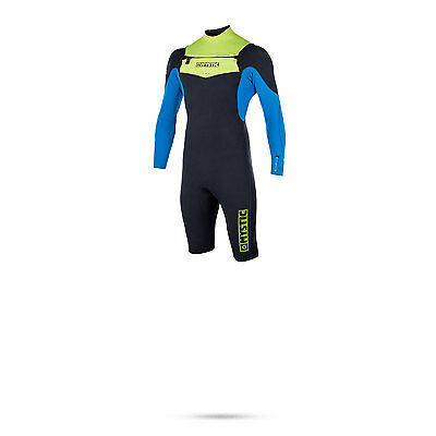 Mystic Star 3/2 Gbs Double Frontzip Longarm Shorty Wetsuit 2017 - Lime