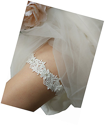 Lace Bridal Garter Legs Belt Wedding Bride And Bridesmaid Ivory Lemandy One New