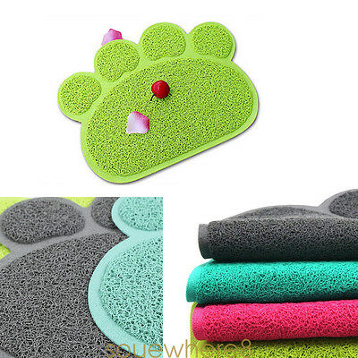 Pet Dog Cat Puppy PVC Placemat Dish Bowl Feeding Food Mat Litter Tray Wipe Clean