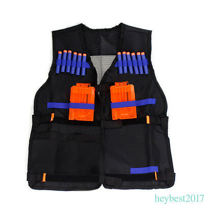 Black Tactical Vest Jacket Waistcoat Ammo Holder for Children CF12