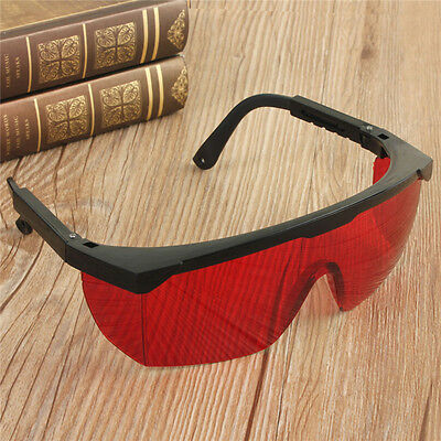 Red Eye Safety Hard Glasses for Red Blue Green Laser UV Light Protection Goggles