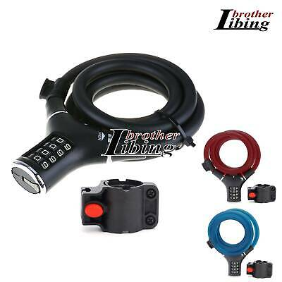 Bicycle Lock 4Digital Combination Code Password Security Bike Cycling Resettable