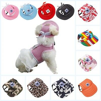 Pet Dog Puppy Baseball Visor Hat Peaked Cap Sunbonnet Outdoor Topee Summer AU