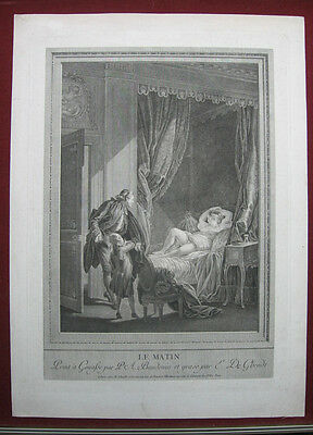 Radierung von Emmanuel de Ghendt: Der Morgen 1780/Etching The Morning