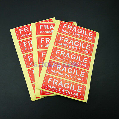 100pcs 1 X 3 FRAGILE HANDLE WITH CARE LABEL STICKER HIGH QUALITY