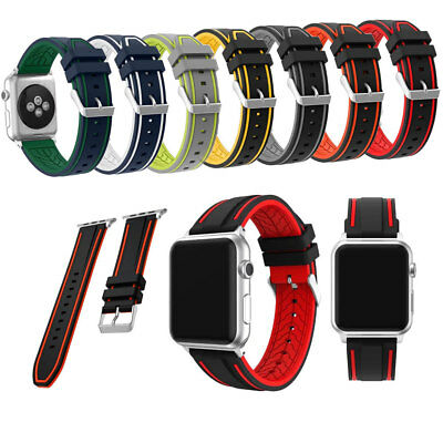 New Sports Silicone Nike Apple Watch Strap Band Bracelet Series 1 / 2 38mm 42mm