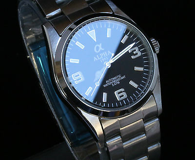 Alpha Explorers Watch Black Dial Automatic Movement 21 Jewels Brand New