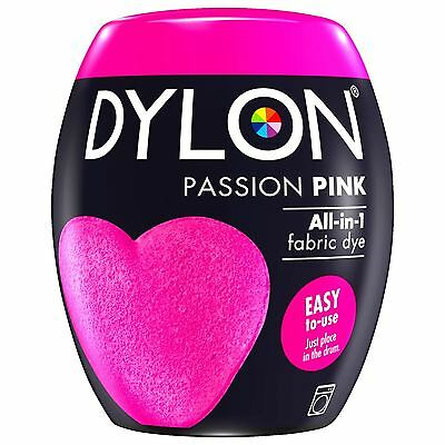 Dylon Machine Dye Pod Fabric Clothes All in One - Passion Pink 350g