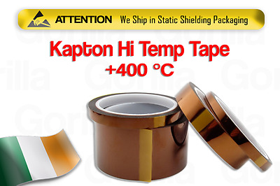 100ft Kapton Tape High Temperature Heat Heat Resistant Tape 8mm 10mm 15mm 30mm