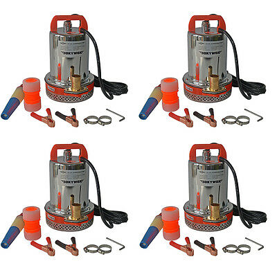 Lot of 4,DC12V Farm & Ranch Solar Deep Well Submersible Water Pump 23FT Max Lift