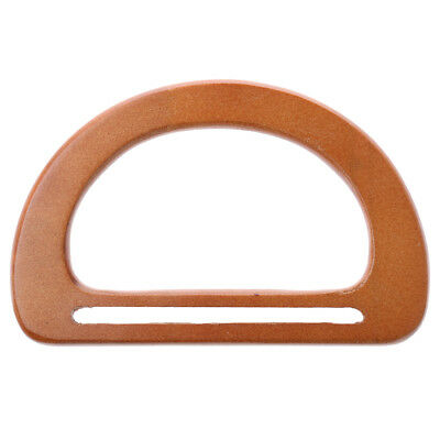 Wooden Handbag Bag Handle Replacement for DIY Bag Purse Making Craft Coffee