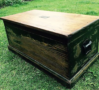 Carpenters Tool Chest,  Coffee Table Storage Box Circa 1940