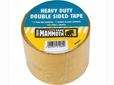"Everbuild Heavy Duty Double Sided Tape Adhesive Beige - 50mm x 5m / 1.9"" x 16ft"