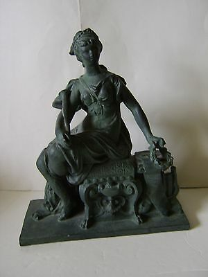 Beautiful Victorian Lady Chalk Sculpture