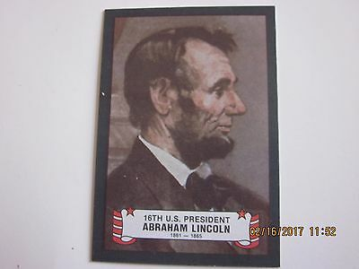 1980 Kelloggs Peel-off Sticker of Abraham Lincoln Non-Sports Card #16 of 38