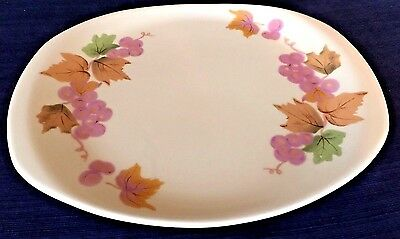 "Informal True China by Iroquois Ben Seibel 13"" Serving Platter w/Purple Grapes"