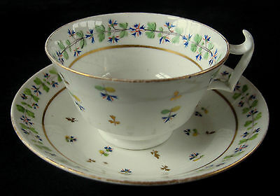 c.1800 Crown Derby Hand Painted Cup & Saucer