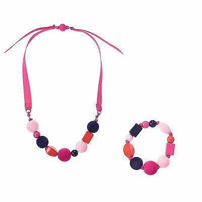 NWT Gymboree FAIR ISLE FLURRY Girls Beaded Ribbon Necklace & Bracelet Set