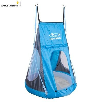 Castle Nest Swing Tent Double Suspension Roll Up Entrance Blue Polyester New