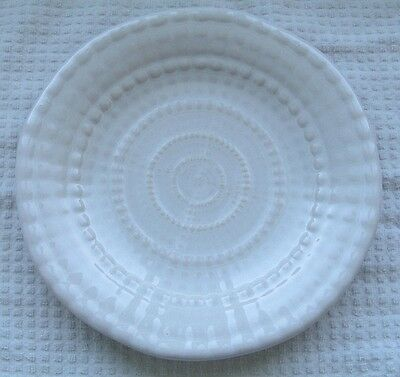 "222 Fifth Sea Urchin Pattern White Embossed 10 7/8""  Dinner Plate  NOS"