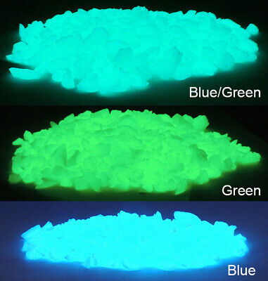 Small GLOW IN THE DARK Fish Tank Rubble ~ Glow Pebbles ~ AQUARIUM GRAVEL