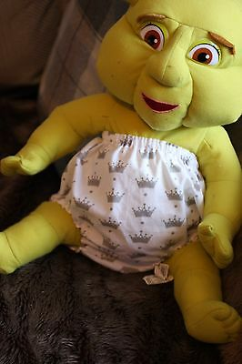Handmade Diaper/nappy Cover Pants 12-24 Months(Unisex) Crowns