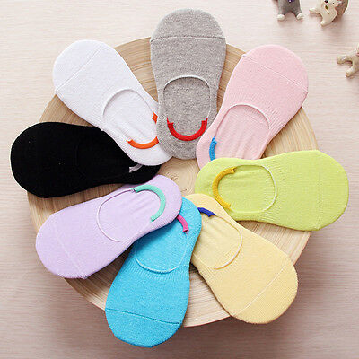 Candy Color Baby Kids Cotton Non-slip Invisible Socks Shallow Mouth Heart Socks