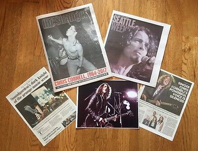 Cornell Seattle Weekly&The Stranger Seattle Local Papers+3Signed Reprint+2Copies