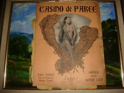 1930s Casino de Paree New York Wine List Nude Cover + Hotel Dixie Menu