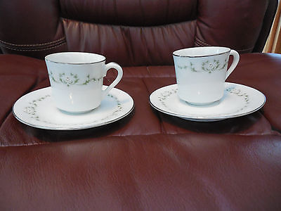 Sheffield Fine China Japan Elegance 502 Pattern - Small Cup and Saucer set of 2