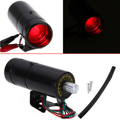 Red LED Universal Tachometer RPM Tacho Gauge Black Adjustable Shift Light Lamp