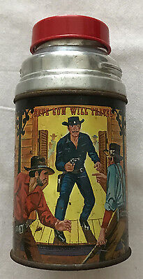 Have Gun Will Travel  Metal Thermos Bottle   Paladin  1960  Aladdin
