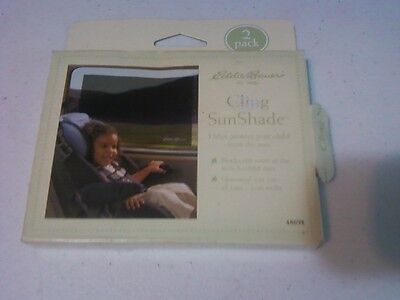 NEW! Eddie Bauer Cling SunShade (2pk) Universal Size fits all cars Box wear