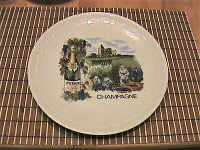 Champagne, France, Assiette Decorative Plate - Europe Artwork Home Staging