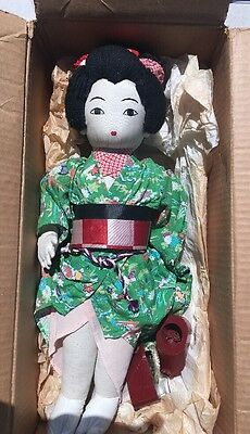 Vintage 1940  50s Japanese  cloth doll Nice Condiction