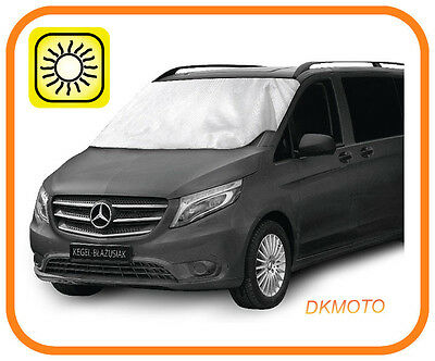 WINDSCREEN SUN SHADE SUNSHADE BLIND COVER HEAT PROTECTOR fit Vauxhall Vivaro