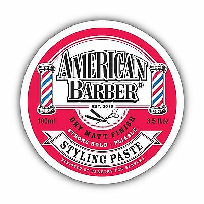 American Barber Styling Paste 100Ml Free Shipping