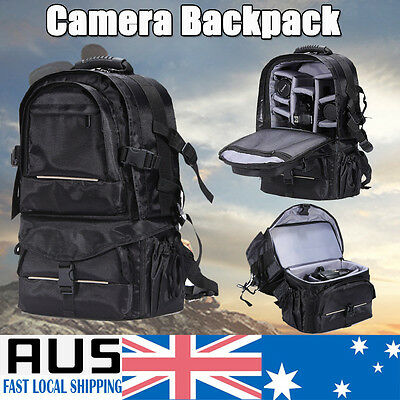 Large Camera Backpack Bag Waterproof Shockproof for Canon Sony DSLR Rain Cover