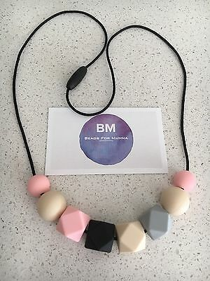 Silicone Sensory Necklace for Mum Gift Beads Modern Aus Practical Breastfeeding