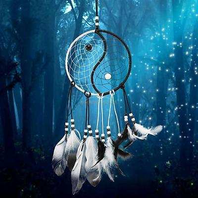 Dream Catcher Handmade Black White Feather Car Wedding Wall Hanging Home Decor