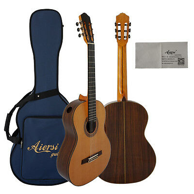 All Solid Classical Guitar Raised Fretboard and Single Port free case SC-093A