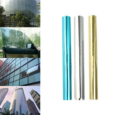 Mirror Reflective One Way Solar Window Film Foil Insulation Sticker Tint Anti-UV