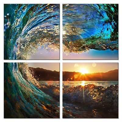 Picture Painting Canvas Print Wall Art Home Decor Landscape Waves Photos Framed