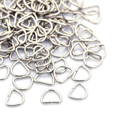 100pcs 304 Stainless Steel Triangle Jump Rings Unsoldered Loop Findings Tiny 8mm